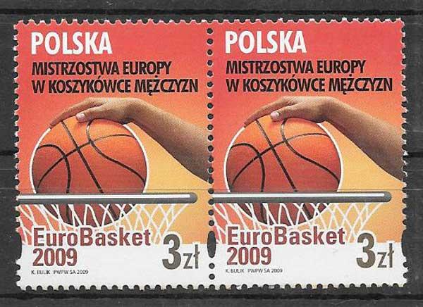 Filatelia deporte Polonia 2009