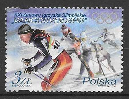 sellos deporte Polonia 2010