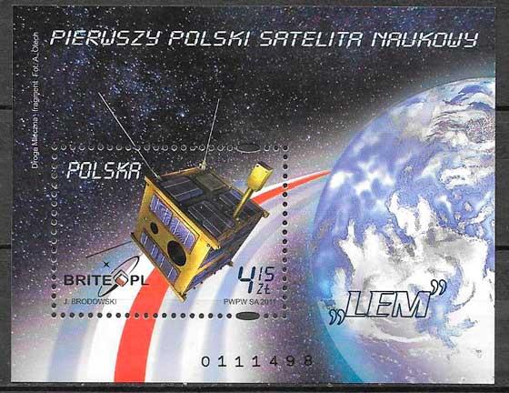 colección de sellos espacio Polonia 2004