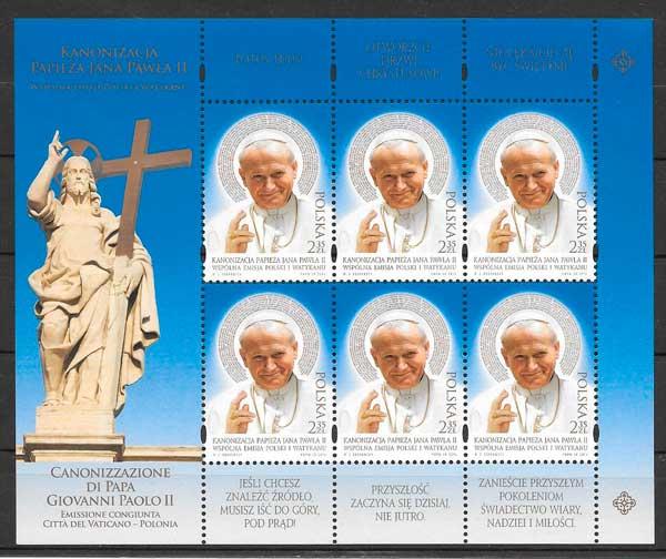 sellos personalidades Polonia 2014