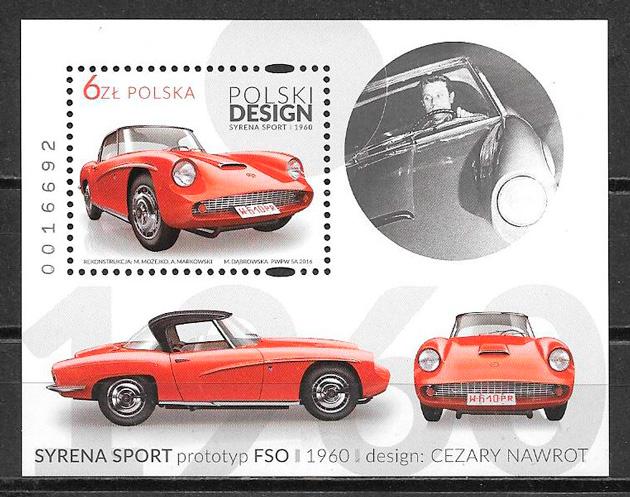 colección sellos transporte Polonia 2016