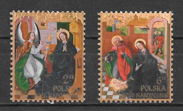 filatelia colección navidad Polonia 2016