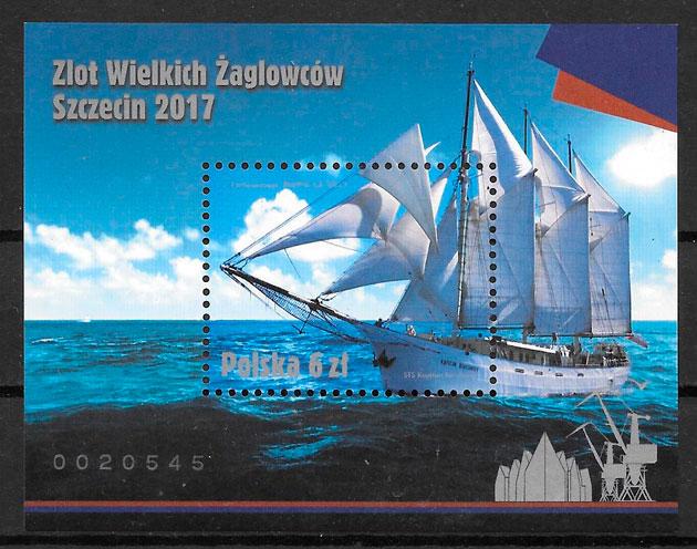 colección sellos transporte Polonia 2017