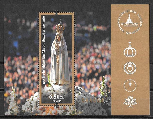 colección sellos arte Polonia 2017