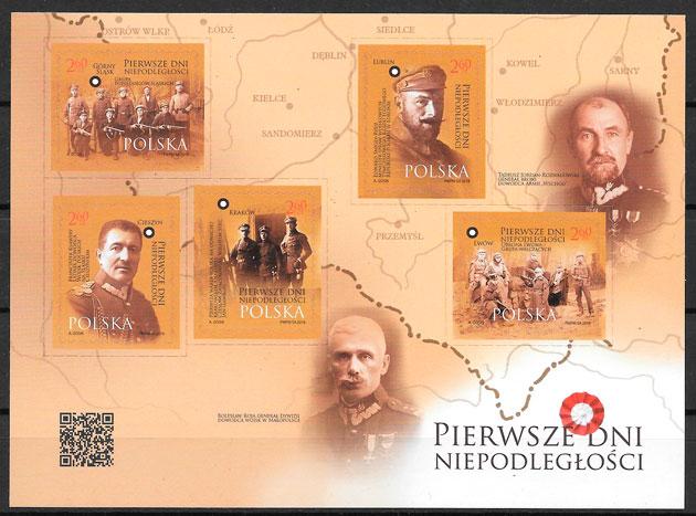 filatelia personalidad Polonia 2018