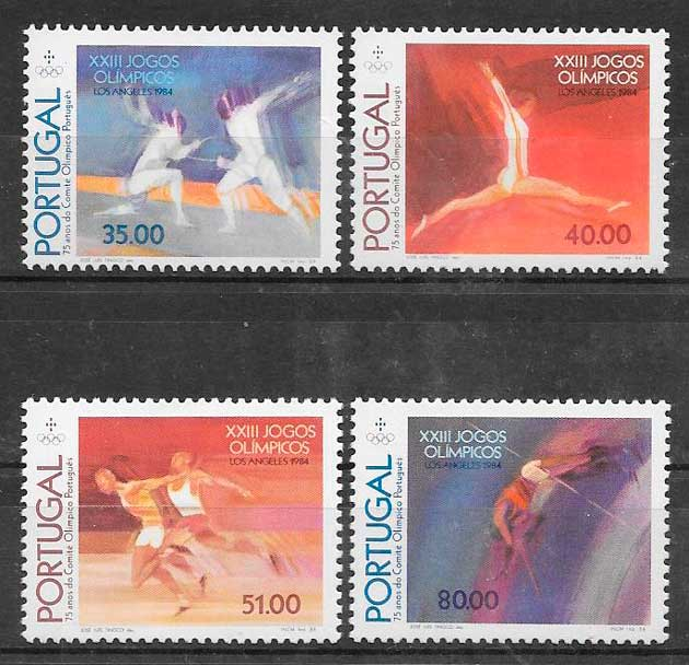 sellos deporte Portugal 1984