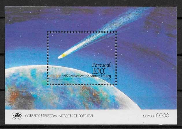 filatelia espacio 1986 Portugal