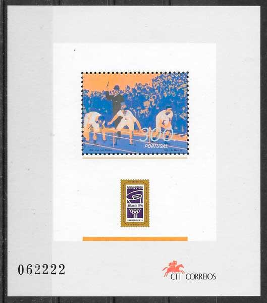 colección sellos deporte Portugal 1996