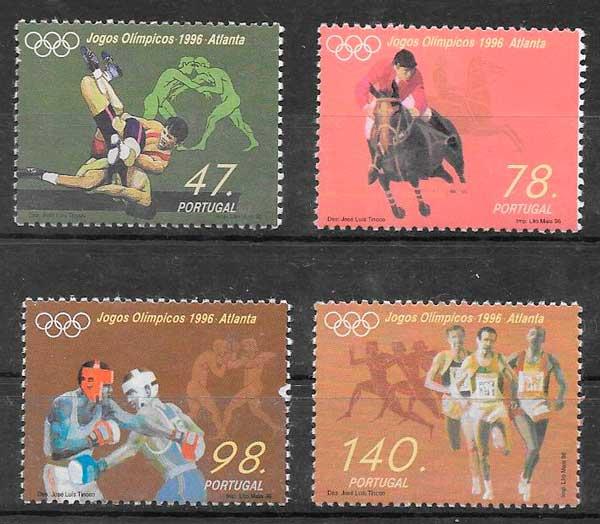 filatelia colección deporte Portugal 1996
