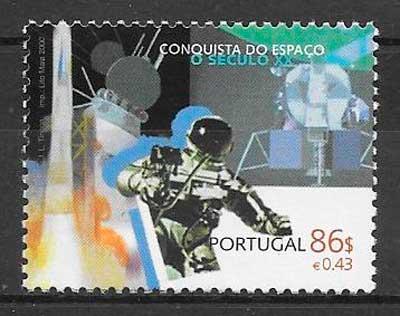 filatelia espacio Portugal 2000