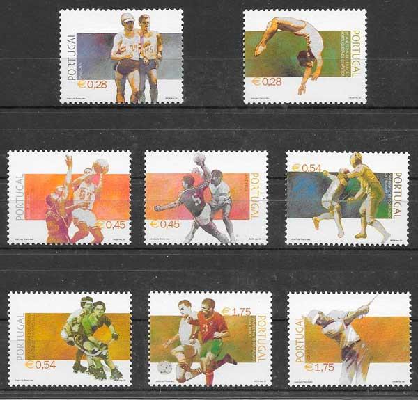 filatelia colección deporte 2002 Portugal