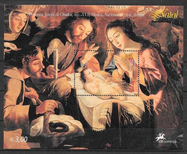 colección sellos navidad Portugal 2004