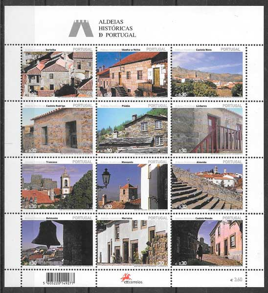 filatelia colección turismo Portugal 2005