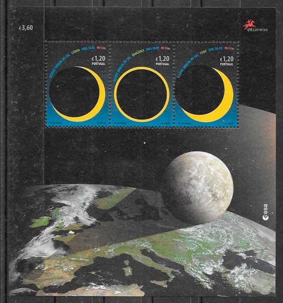 filatelia espacio Portugal 2005