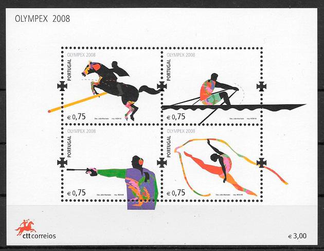 colección sellos Portugal deporte 2008