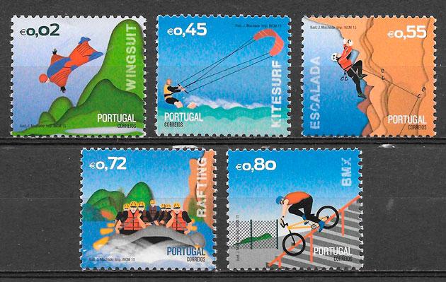 filatelia colección dporte Portugal 2015
