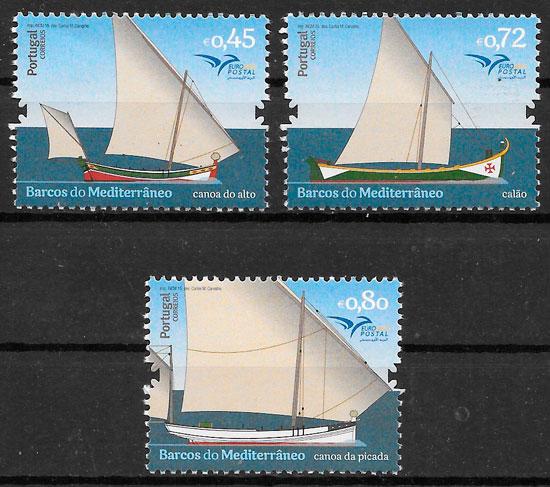 colección sellos transporte Portugal 2015