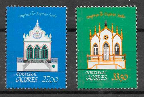 filatelia arquitectura Azores 1982