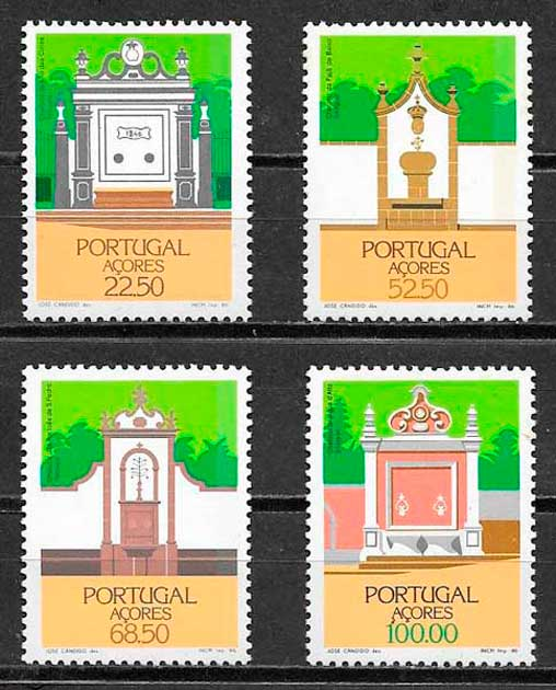 sellos arquitectura Portugal Azores 1986