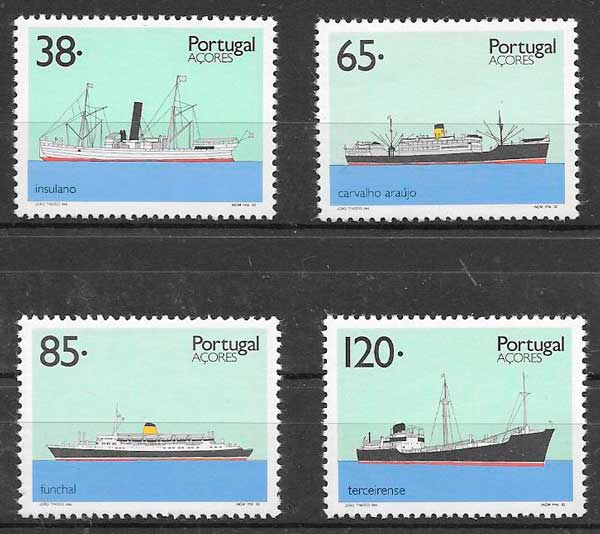 sellos transporte Portugal Azores 1992