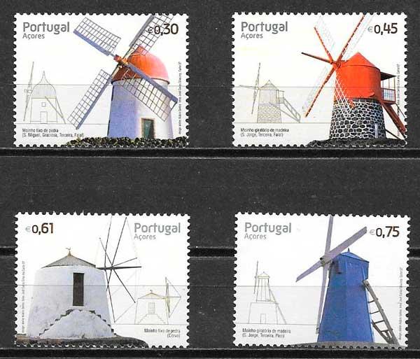 colección sellos arquitectura Portugal Azores 2007