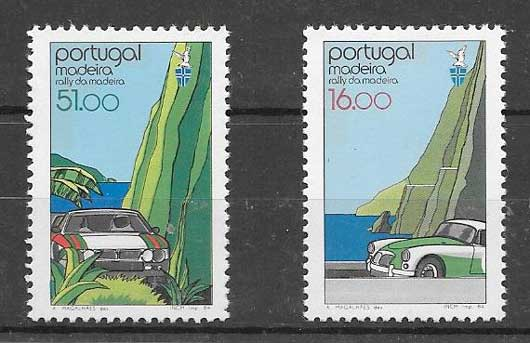 Colección sellos Rallie Automovilístico 1984