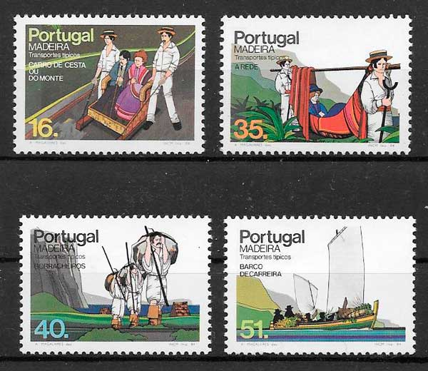 filatelia transporte Portugal Madeira 1984