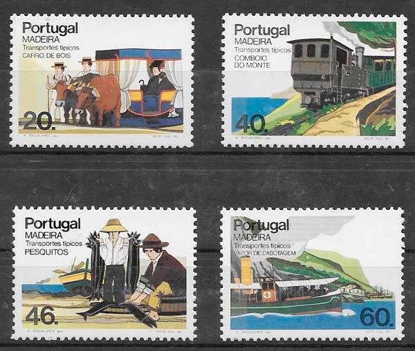 filatelia transporte Portugal Madeira 1985