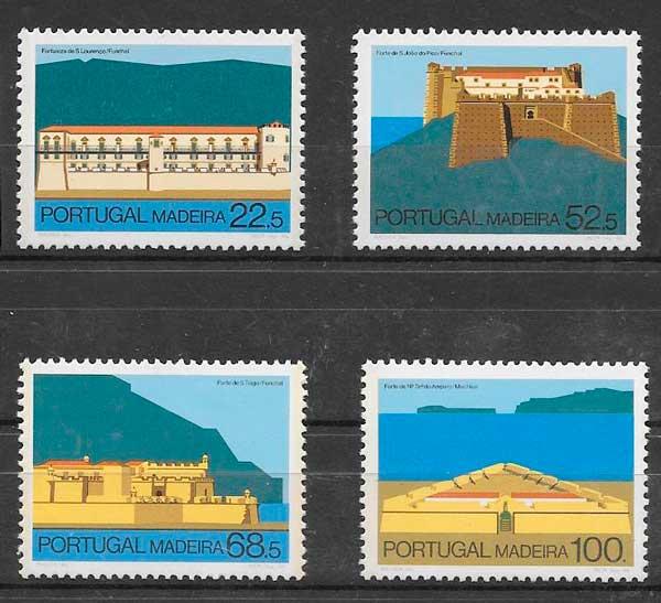 filatelia colección arquitectura Portugal Madeira 1986