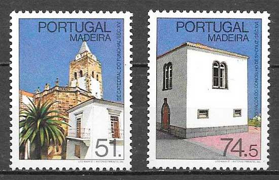 colección sellos arquitectura Portugal Madeira 1987