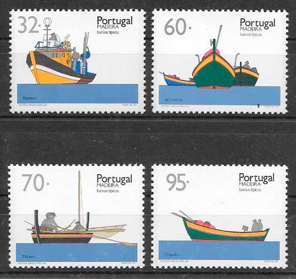 sellos transporte Portugal Madeira 1990