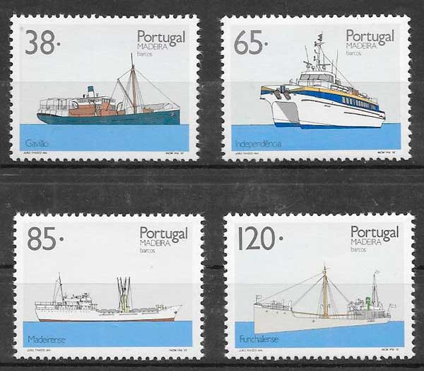 sellos transporte Portugal Madeira 1992