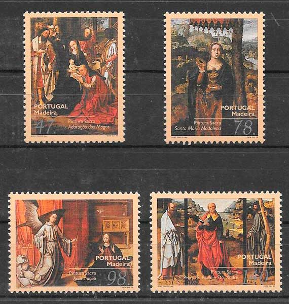 sellos arte Portugal Madeira 1996