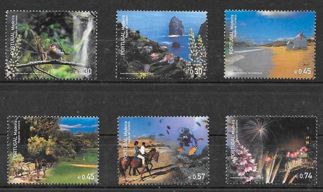 sellos colección turismo Portugal 2005