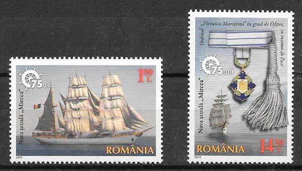filatelia transporte Rumanía 2014