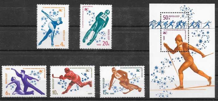 sellos olimpiadas Rusia 1980