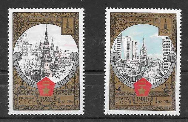 Filatelia turismo Rusia 1980