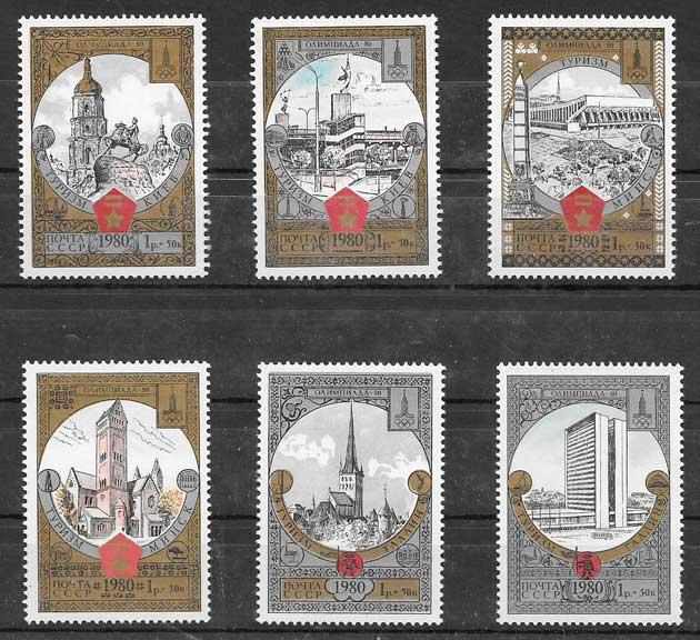 sellos colección olimpiadas Rusia 1980