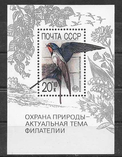 Colección sellos fauna protegida 1989