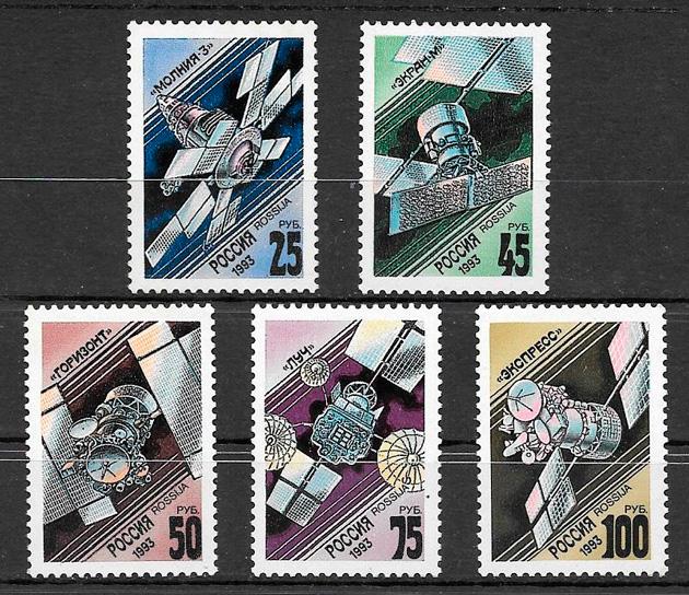 filatelia espacio Rusia 1993