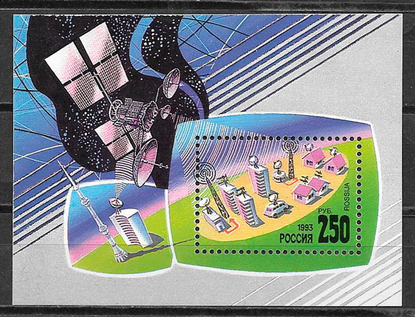 sellos Rusia espacio 1993