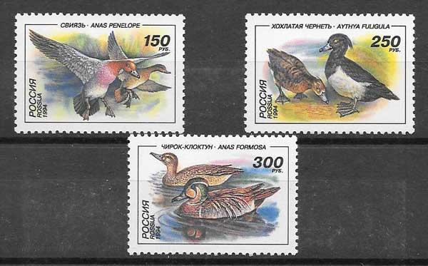 Sellos fauna patos Rusia 1994