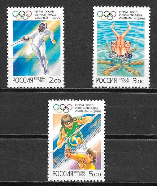 sellos deporte Rusia 2000