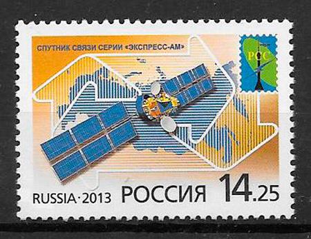 filatelia espacio Rusia 2013