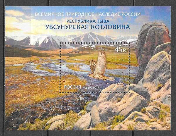 filatelia fauna Rusia 2013