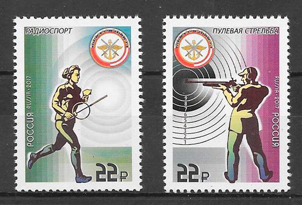 filatelia colección deporte Rusia 2017