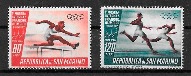 sellos deporte San Marino 1955