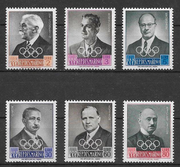 sellos deporte San Marino 1959