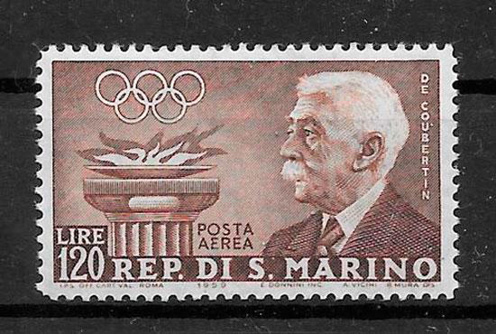 filatelia deporte San Marino 1959