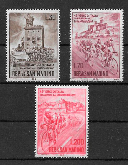 filatelia colección deporte San Marino 1965